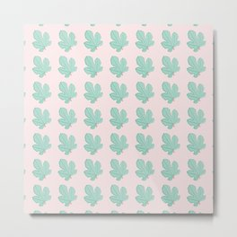 Vector Fig Tree Greenery Pattern Metal Print