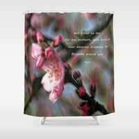 poem Shower Curtains featuring Poem from Rumi 2 by Lucia