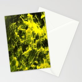 Yellow Abstract Stationery Cards