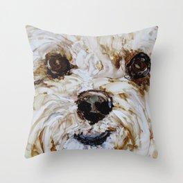 Maltipoo Love Throw Pillow