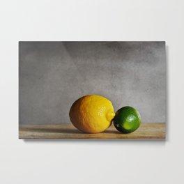 Lemon and Lime Metal Print