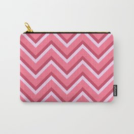 Pink Zig Zag Pattern Carry-All Pouch