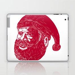Santa Claus Head Woodcut Laptop & iPad Skin
