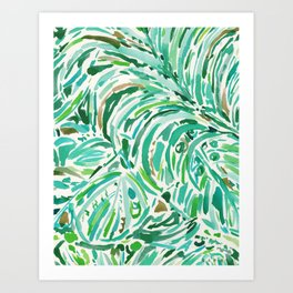 LUSH FREEDOM Watercolor Palm Print Art Print