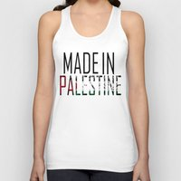 palestine Tank Tops featuring Made In Palestine by VirgoSpice