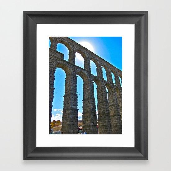 Aqua Arches Framed Art Print