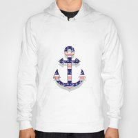 anchors Hoodies featuring anchors by Manoou