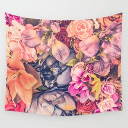 Beautiful background with different flowers Wall Tapestry