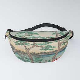 Spring Blossoms and Pond Ukiyo-e Japanese Art Fanny Pack