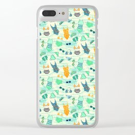 Swimsuits Pattern Clear iPhone Case