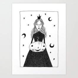 Pumpkin Princess Art Print