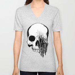 Skull #5 (Distortion) Unisex V-Neck