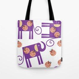 Elephants 4XF Tote Bag