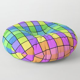 Pastel Chex Floor Pillow