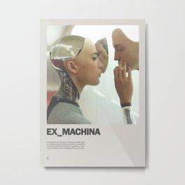 Ex Machina Minimal Movie Poster No 02 Metal Print