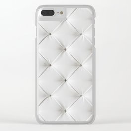 White Tufted Clear iPhone Case