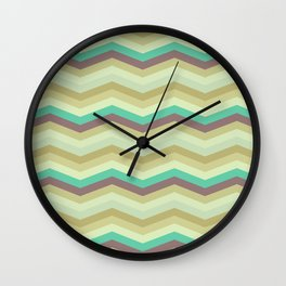 Chevron pattern Wall Clock