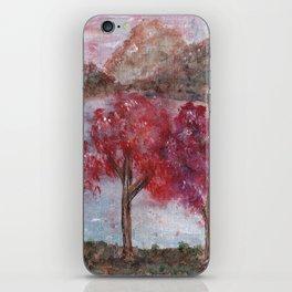 Watercolor Brilliant Night Landscape iPhone Skin