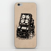 cats iPhone & iPod Skins featuring Cats by Ronan Lynam