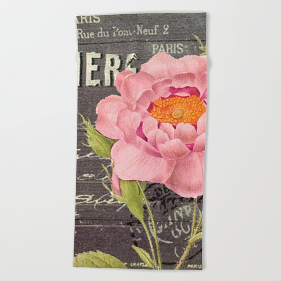 Vintage Flowers #5 Beach Towel
