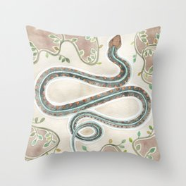 California Garter Snake Throw Pillow
