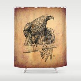 Falcon illustration Shower Curtain