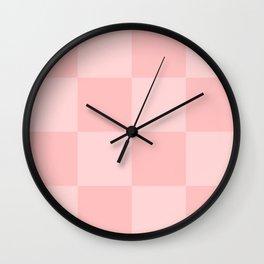 Pink 2 Tone Pattern Wall Clock
