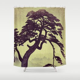 Old Man Standing Shower Curtain