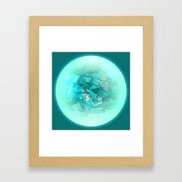 Chrystal Glow Blue Abstract Framed Art Print
