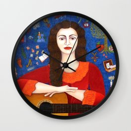 "Violeta Parra - ""Thanks to Life "" Wall Clock"