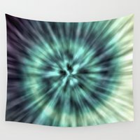 tie dye Wall Tapestries featuring TIE DYE II by Nika