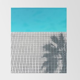 Parker Palm Springs with Palm Tree Shadow Throw Blanket