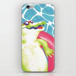 pool gator iPhone Skin