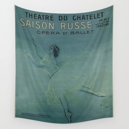 Vintage poster - Saison Russe Wall Tapestry