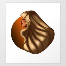 Caramel Art Print