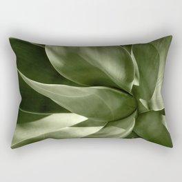 Green Agave Plant Rectangular Pillow