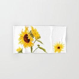 One sunflower watercolor arts Hand & Bath Towel