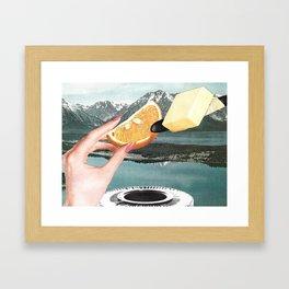 Let's Cut Corners And Run Circles Around Them Framed Art Print