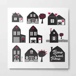 Home Sweet Home. Dreams and Memories. Metal Print