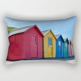 Whitby beach huts Rectangular Pillow
