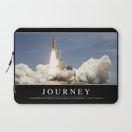 Journey: Inspirational Quote and Motivational Poster Laptop Sleeve