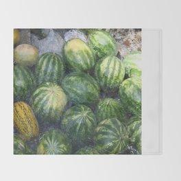 Cool Watermelon Throw Blanket