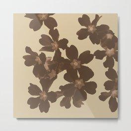 Toffee Soybean Primrose Pattern Metal Print
