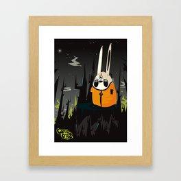 Space bunny Framed Art Print