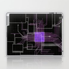 Circuit board purple Laptop & iPad Skin