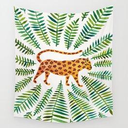 Jaguar – Green Leaves Wall Tapestry