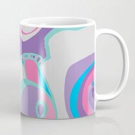 pink purple blue jordan eismont drawing drool rework digital collage Coffee Mug