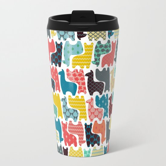 baby llamas Metal Travel Mug