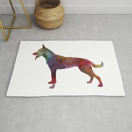 Dutch shepherd dog in watercolor Rug
