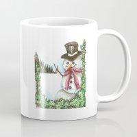 snowman Mugs featuring Snowman... by Saltz